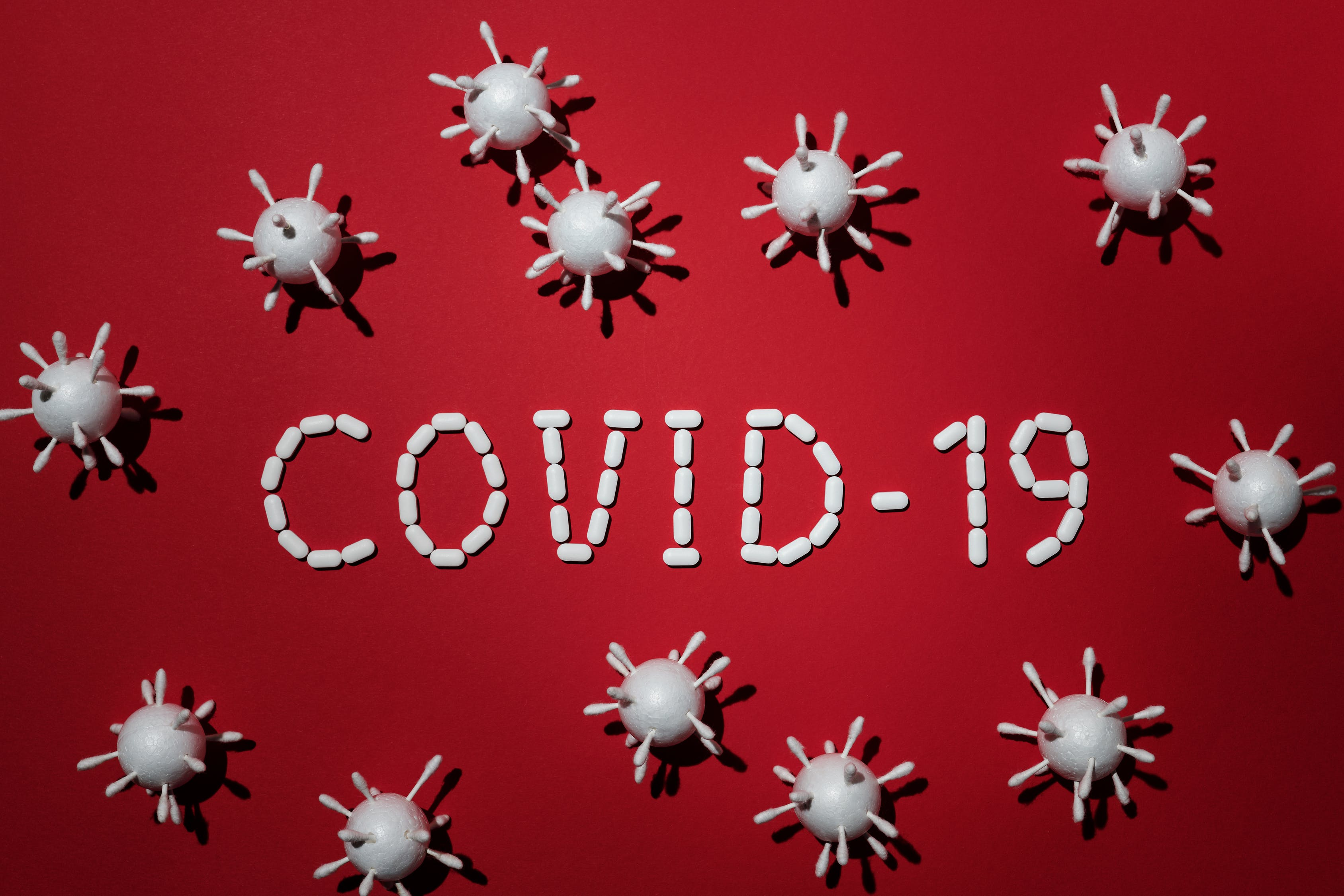 Concept Of Covid-19 In Red Background