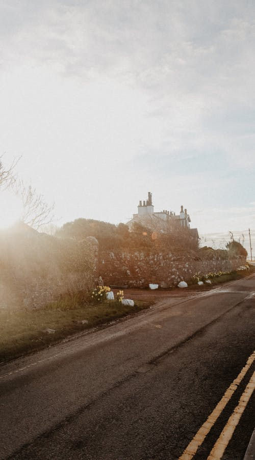 Free stock photo of coastal road, cottage, meeting sunrise, sunrise