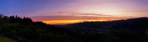 全景, 剪影, 天空, 日落 的 免费素材图片