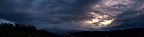 คลังภาพถ่ายฟรี ของ กลางคืน, ซิลูเอตต์, ดราม่า, ตอนเย็น