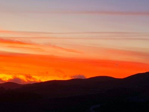 คลังภาพถ่ายฟรี ของ ซิลูเอตต์, ตะวันลับฟ้า, ท้องฟ้า, พระอาทิตย์ตก