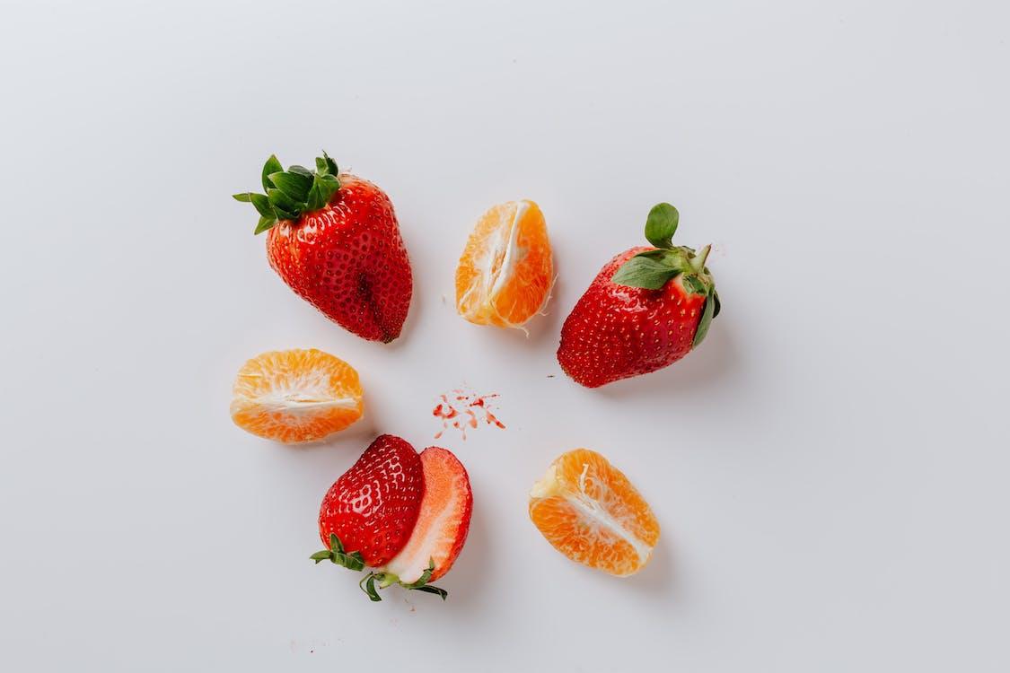 Strawberries And Orange Slices