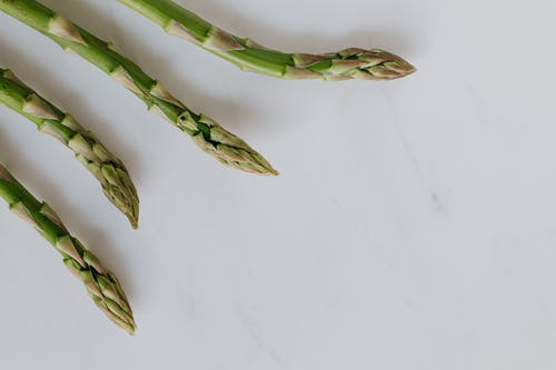 Asparagus Stalks In Close-up Photography