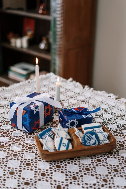 Gifts and Cookies for Hanukkah