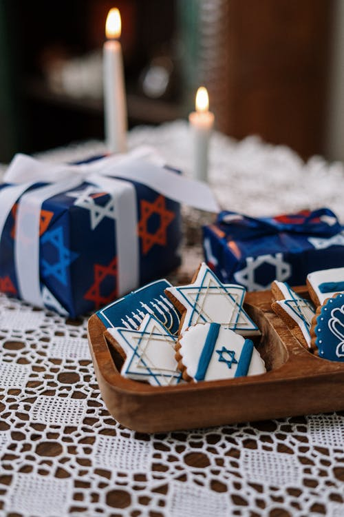 Cookies and Gifts for Hanukkah