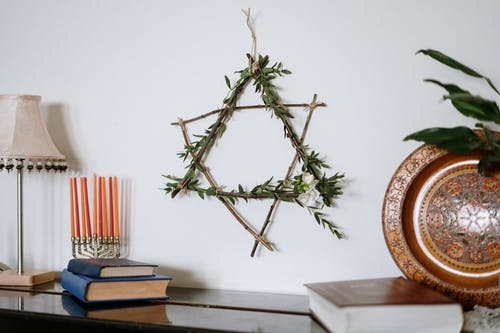 Star of David Made of Branches