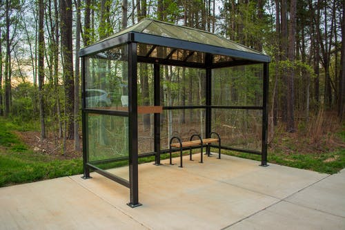 Free stock photo of bench, bus stop, shelter