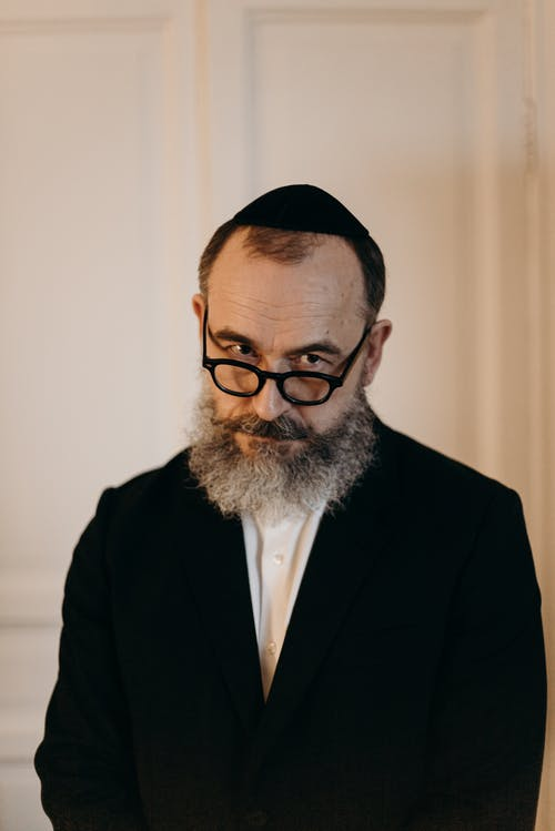 Jewish Man With Glasses Portrait