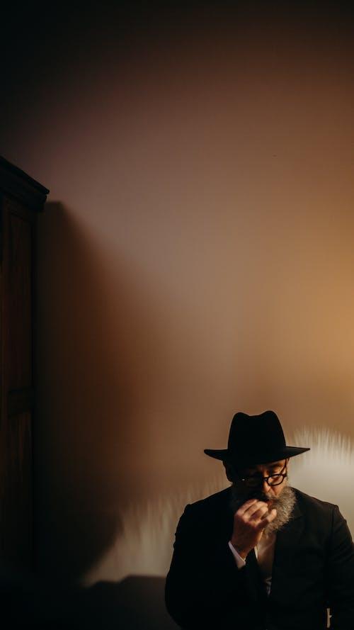 Photo Of An Old Man Wearing Fedora Hat