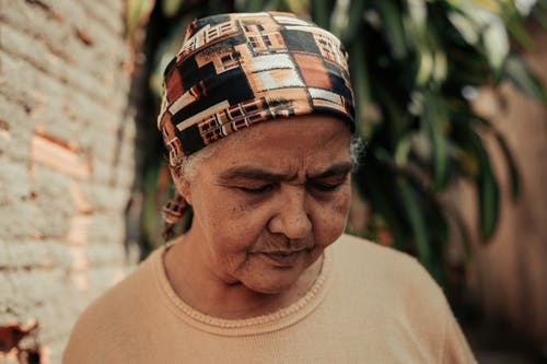 Close-Up Photo Of An Elderly Woman