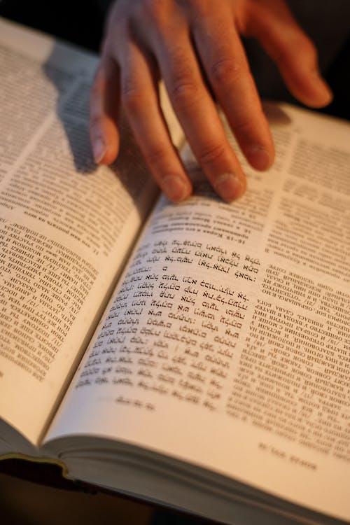 Gratis stockfoto met boek, detailopname. close-up, gewoonte, hand