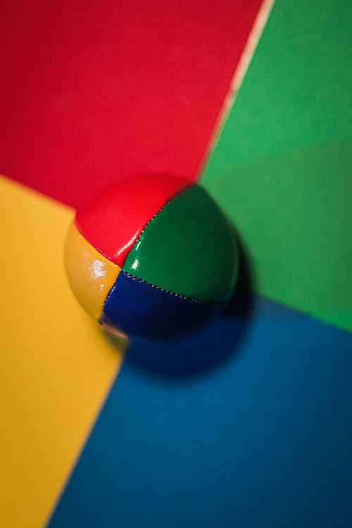 Red Yellow Blue and Green Ball
