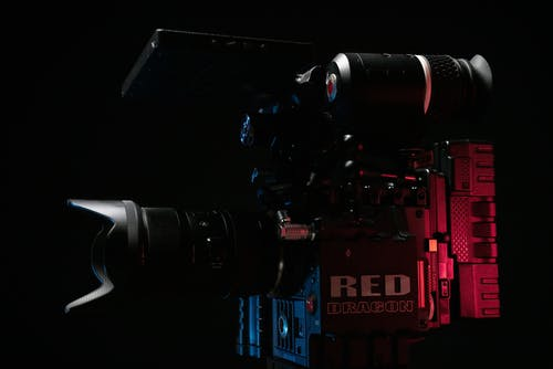 Black and Red Dslr Camera