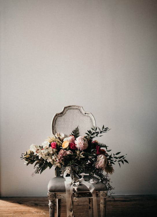Photo Of Flowers On Chair