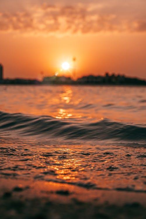 Scenic Photo Of Waves During Dawn