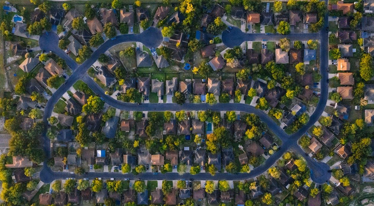 Bird's Eye View Of Houses
