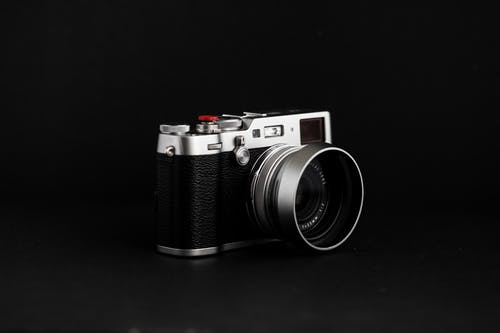 Photo Of Black And Silver Camera