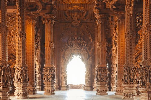 Free stock photo of architecture, buddhist temple, carved wood, Hindu temple