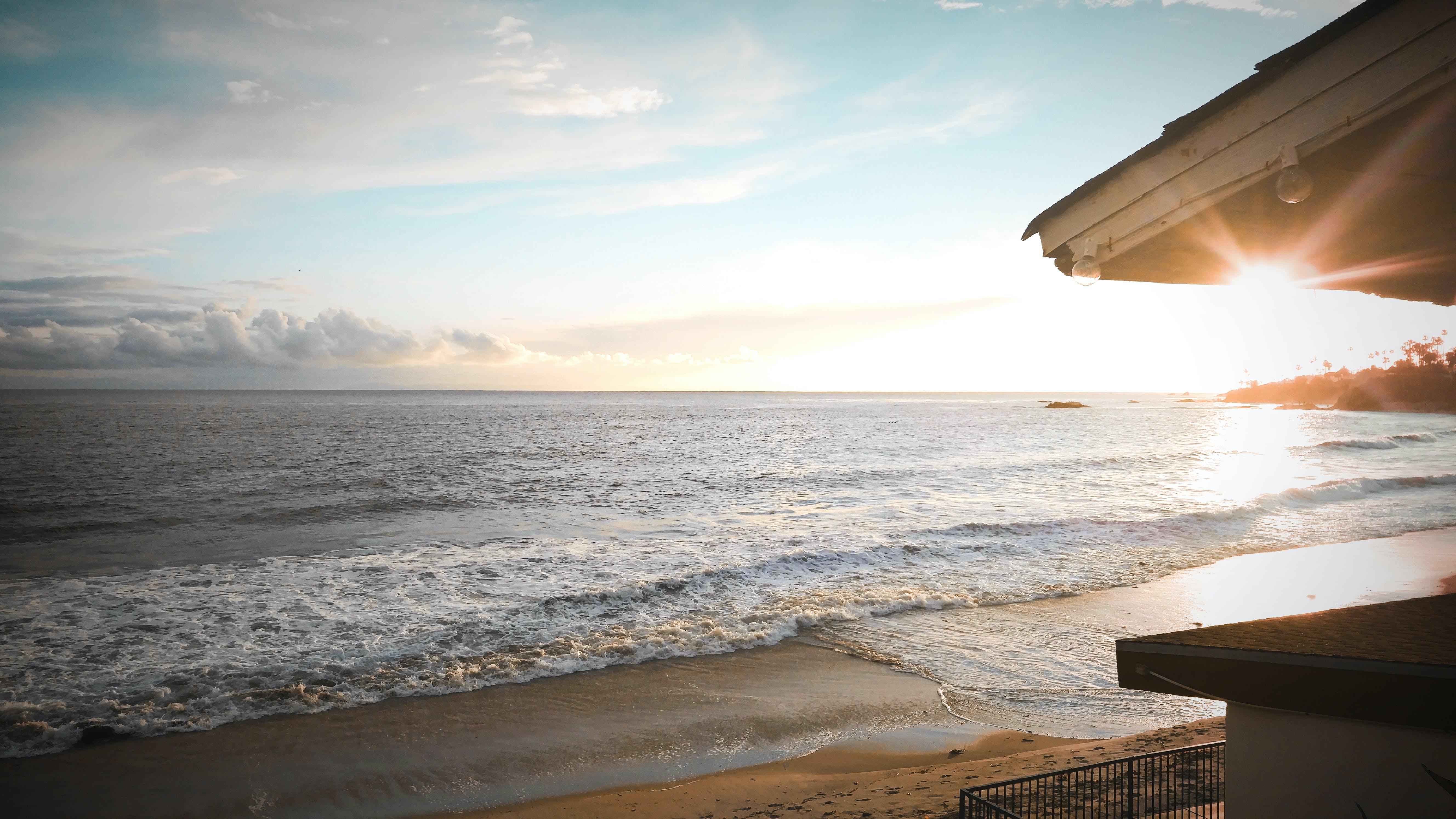 Free stock photo of ocean, sunny, sunset, water