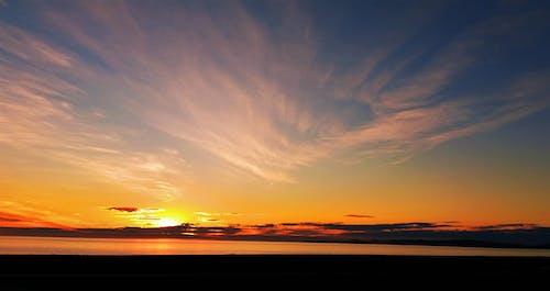 Бесплатное стоковое фото с апельсин, восход, голубой, красивый