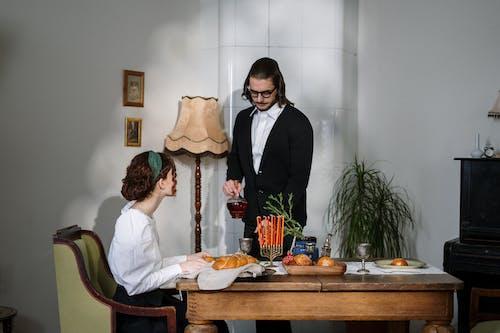 Couple Having Traditional Jewish Food