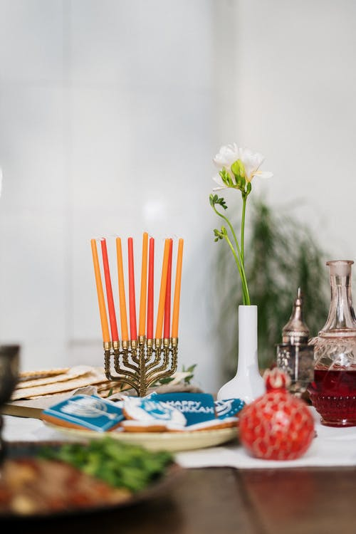 Table With Menorah