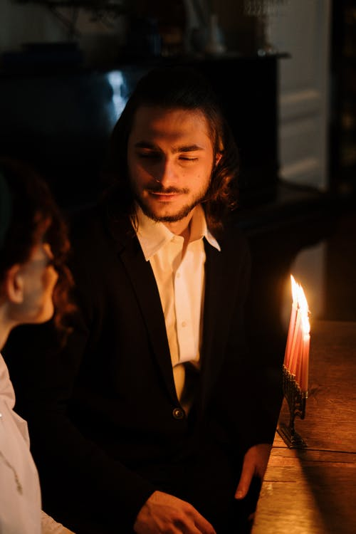 Man in Candlelight