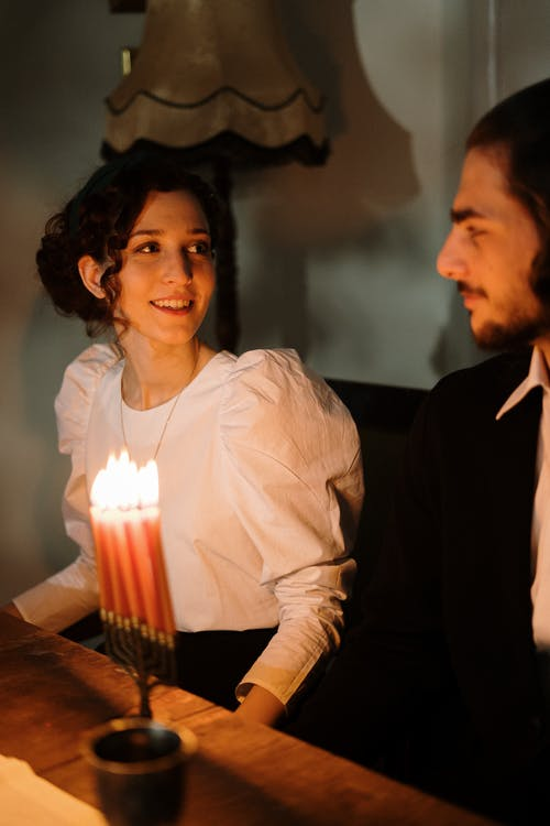 Young Couple in Candlelight