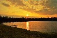 nature, sunset, water
