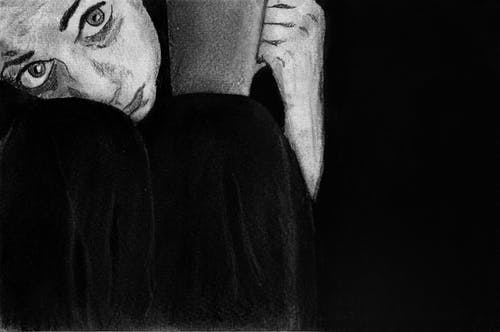 Free stock photo of art, big eyes, black and white, draw