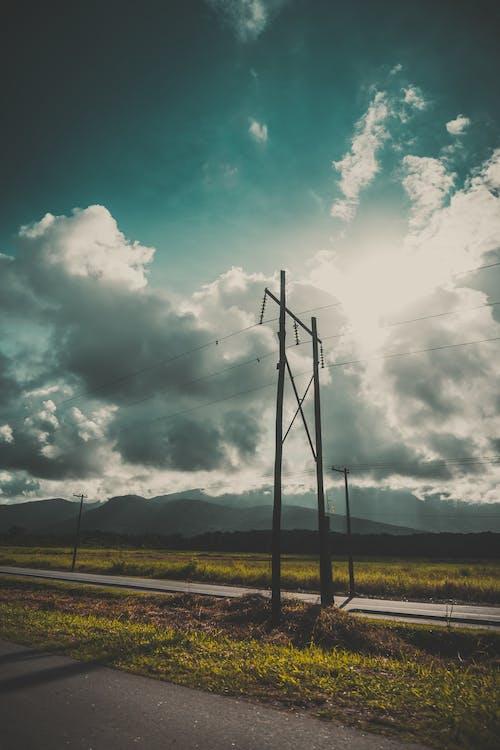 Základová fotografie zdarma na téma dráty, elektřina, energie, krajina