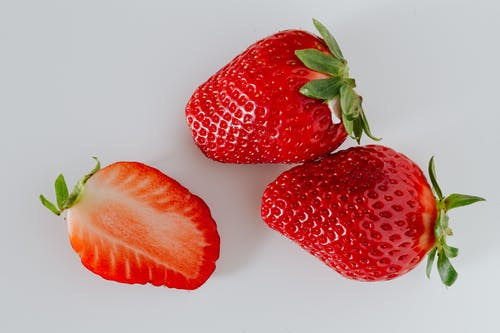 Photo Of Sliced Strawberries