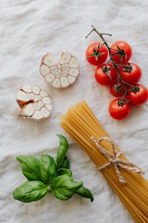 Photo Of Garlic Beside Pasta