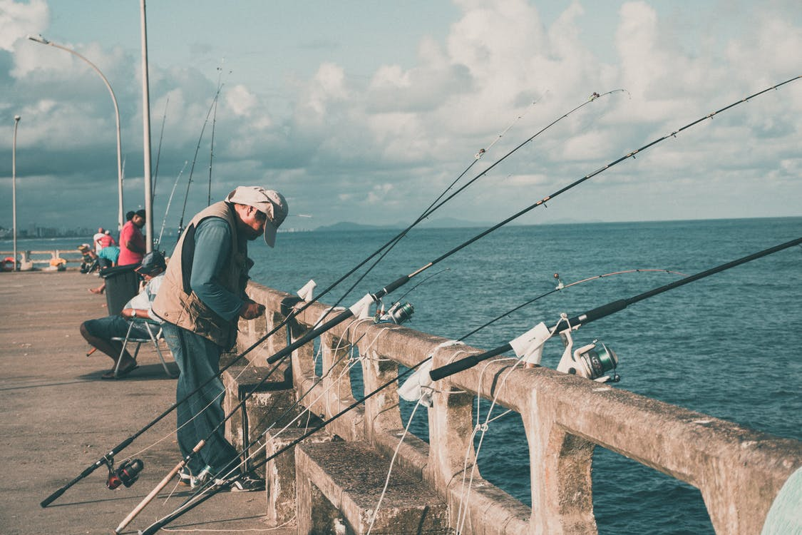 Fishing Rods on Fence