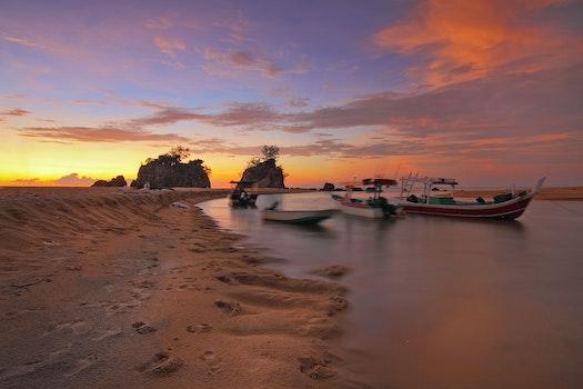 Free stock photo of sea, dawn, sky, sand
