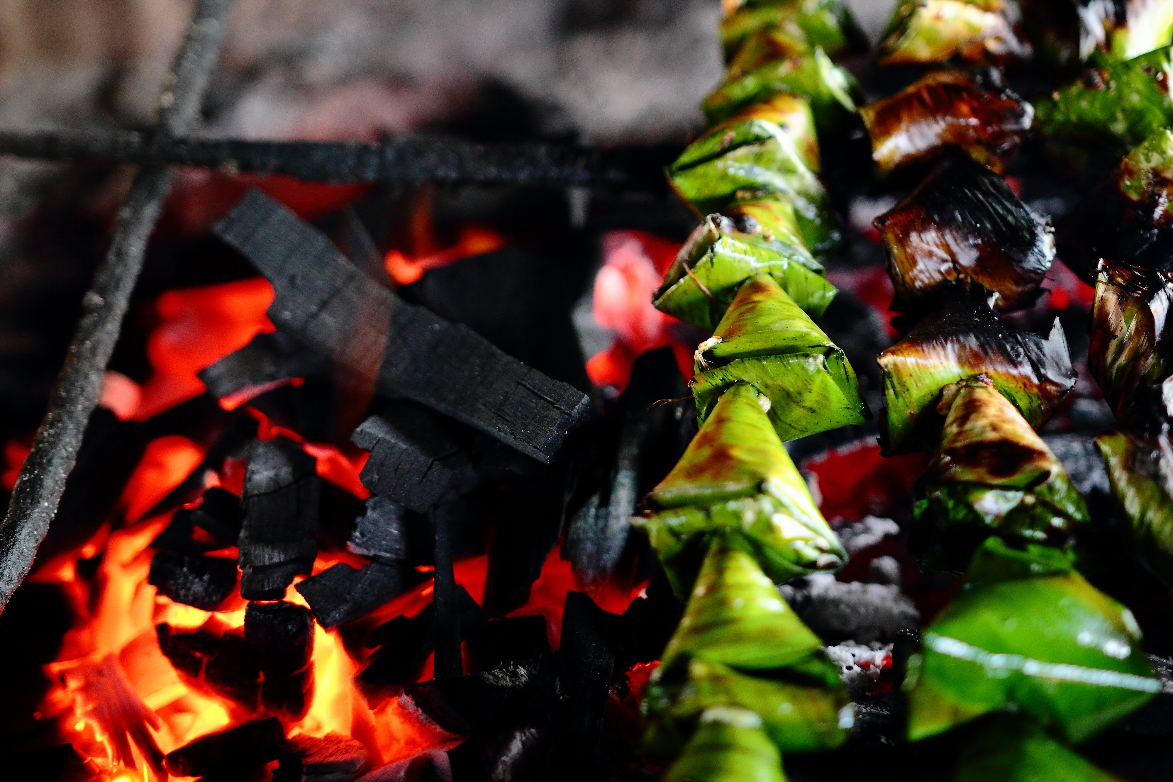 Grilled Leaves in Stick