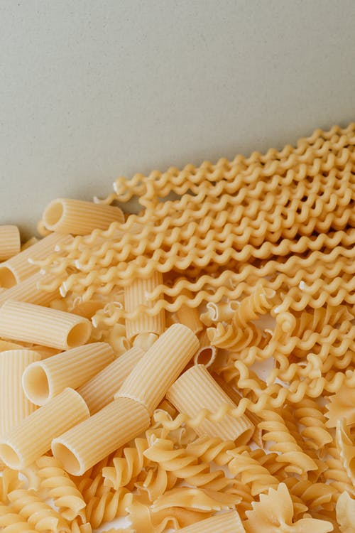 Assorted Pasta In Close-up View