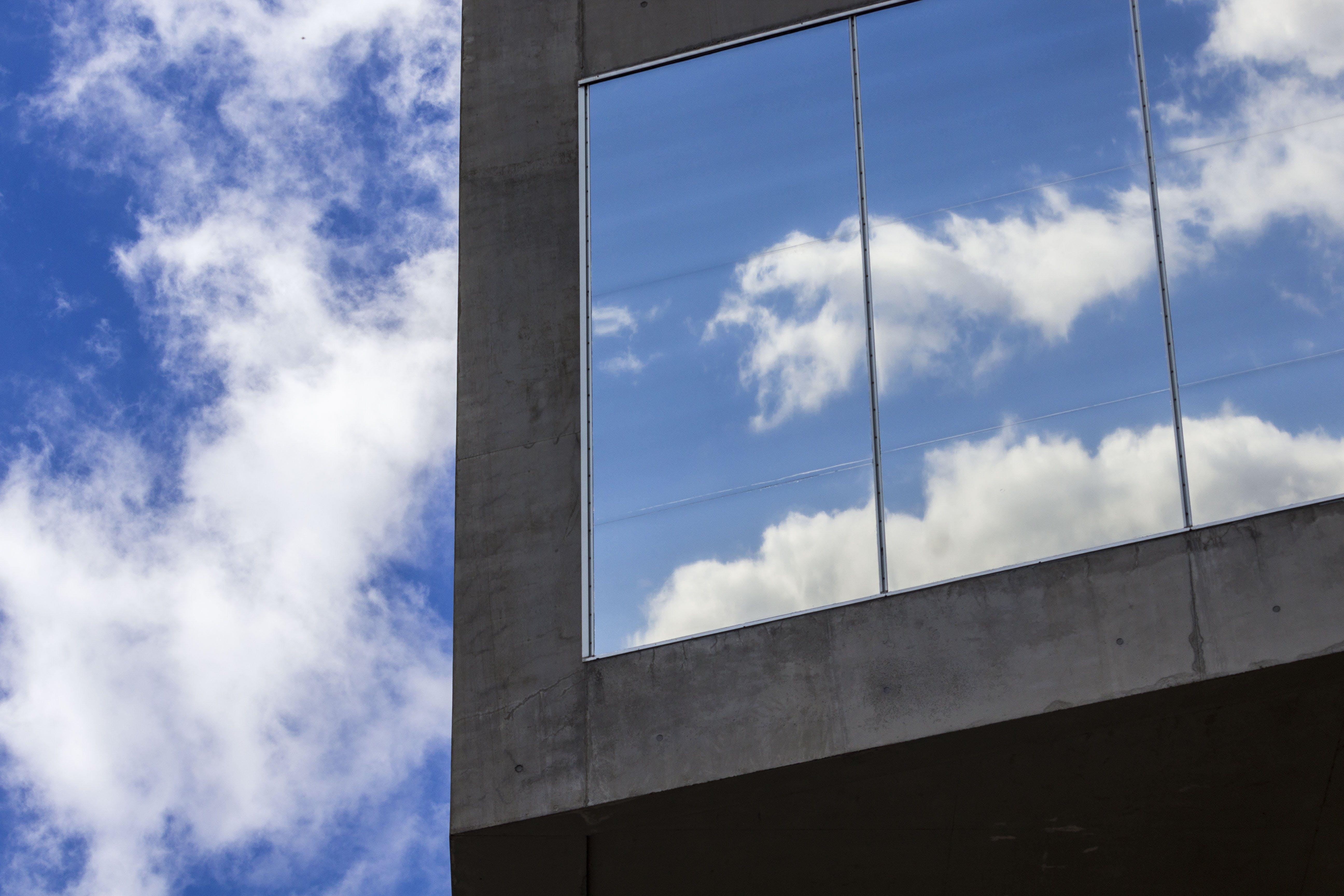 bicchiere, blue sky, cielo