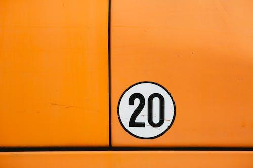 Number 20 On Orange Background