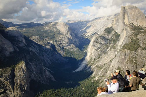 Free stock photo of glacier point, halfdome, national park, tourists