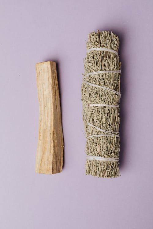 Photo Of Sage Beside Wood Piece