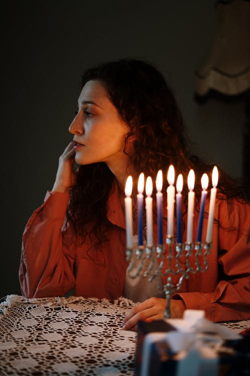 Woman With a Menorah