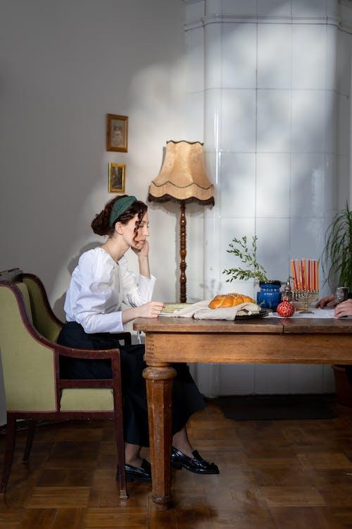 challah的, hanukkiah, 以色列食品, 传统食物 的 免费素材照片
