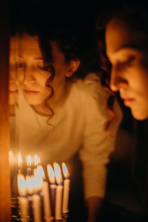 Woman With Candles