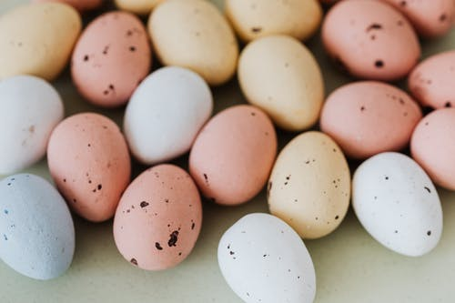 Easter Eggs in Pastel Colors