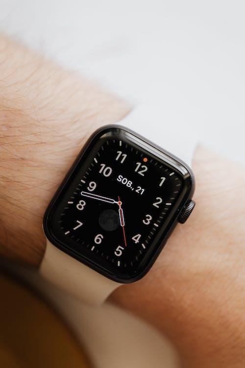Smart watch on person wrist