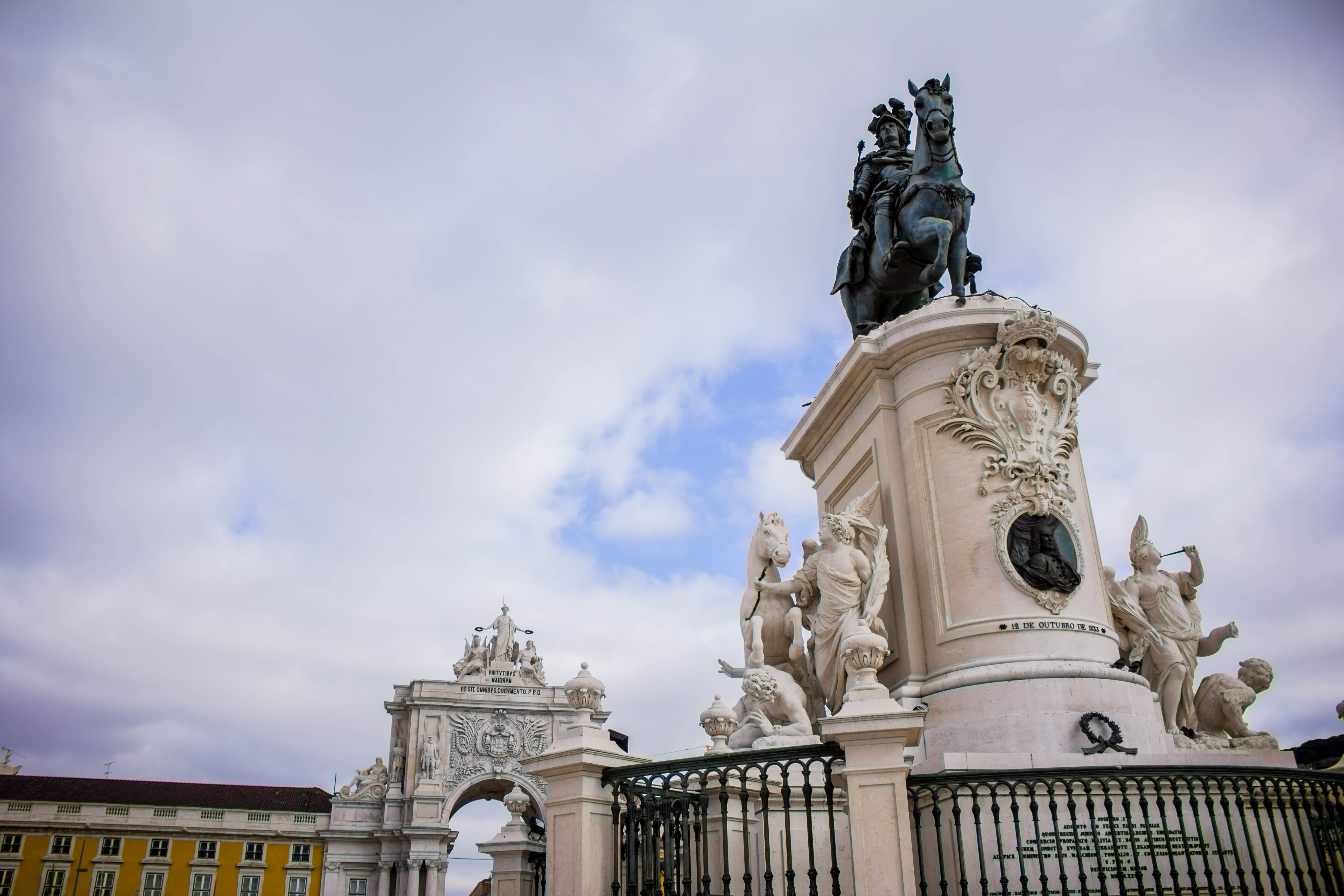 Free stock photo of monument, portugal, square, statue
