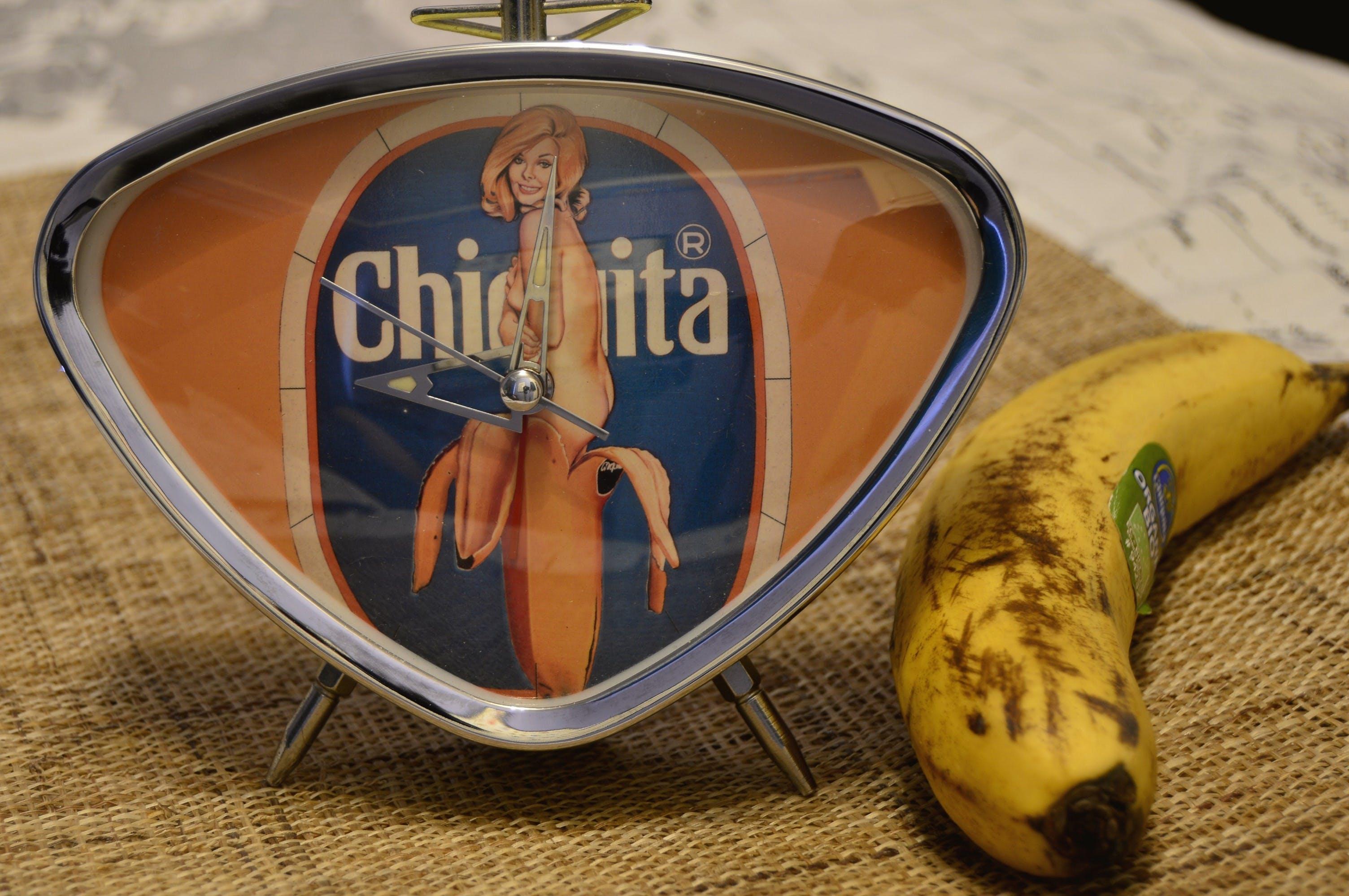 Free stock photo of inside, clock, banana, fruit