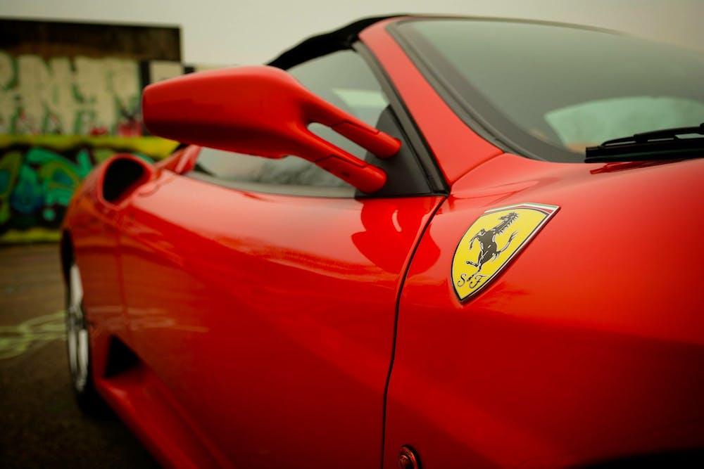 A red Ferrari car. | Photo: Pexels