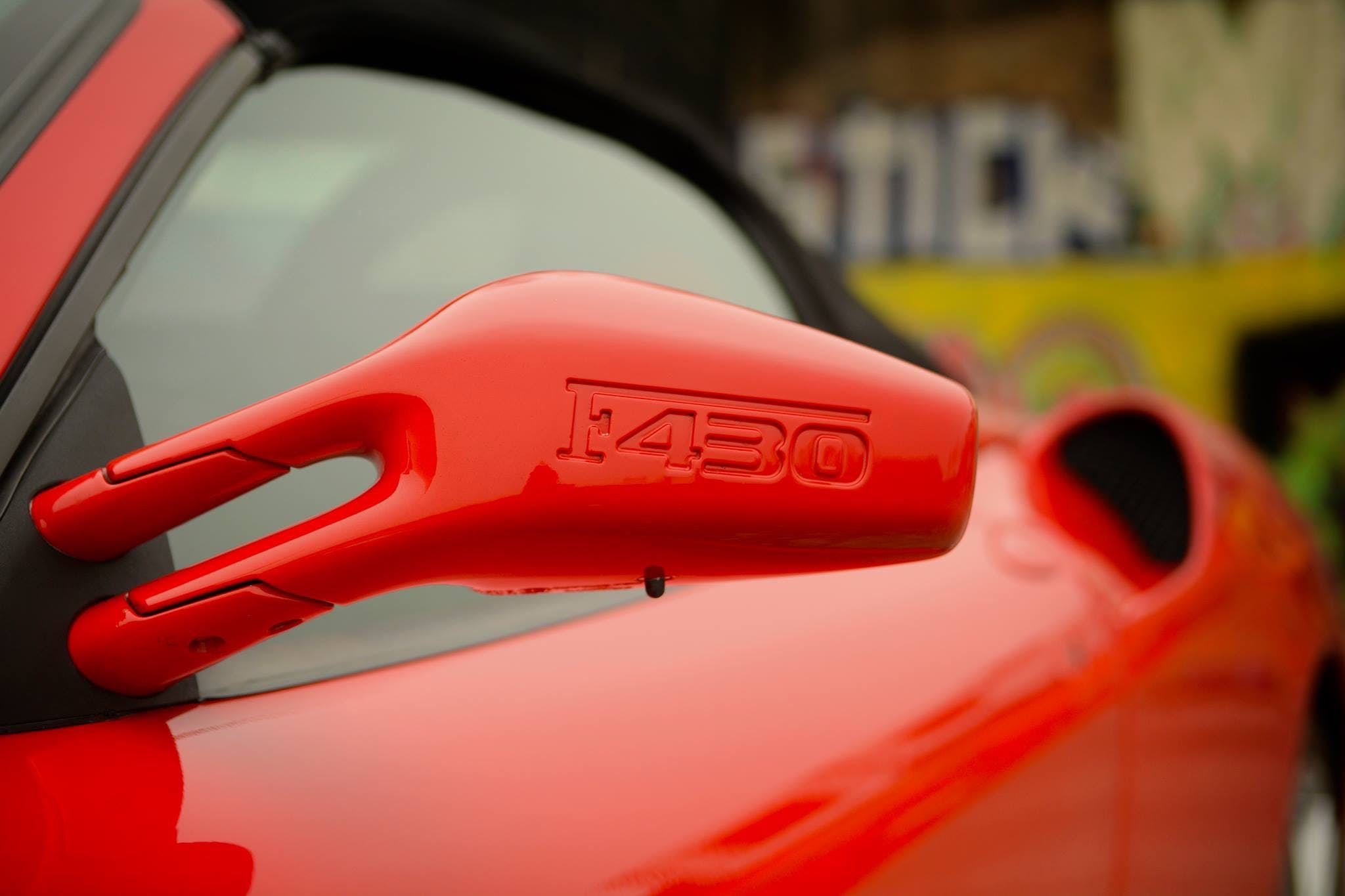 Red Ferrari 430 Coupe Side Mirror